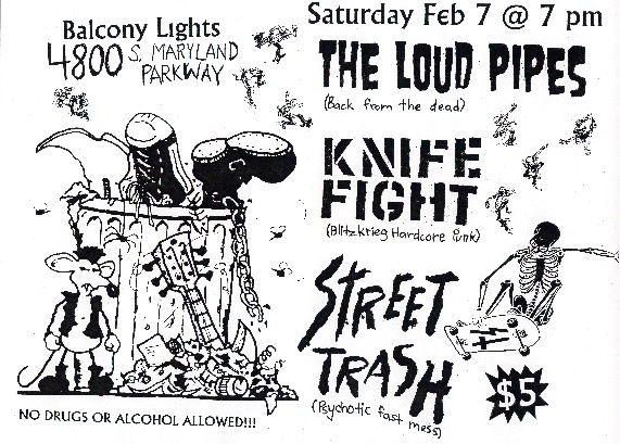 Knife Fight-Street Trash-The Loud Pipes @ Balcony Lights Las Vegas NV 2-7-04