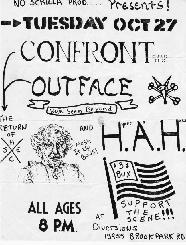 Confront-Hyper As Hell-Outface @ Diversions Brook Park OH 10-27-87