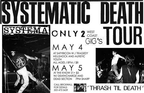 Systematic Death 2008 Tour