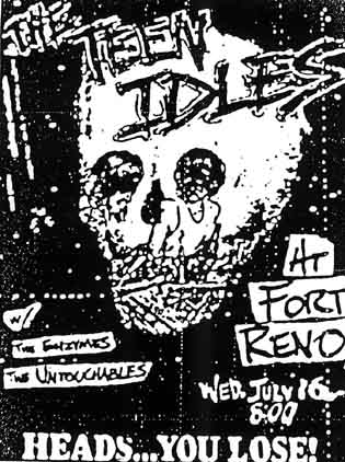 Teen Idles-The Enzymes-The Untouchables @ Fort Reno Washington DC 7-16-80