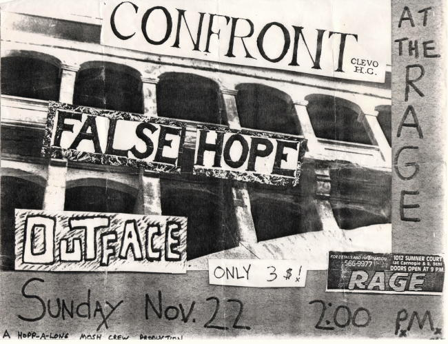 Confront-False Hope-Outface @ The Rage Cleveland OH 11-22-87