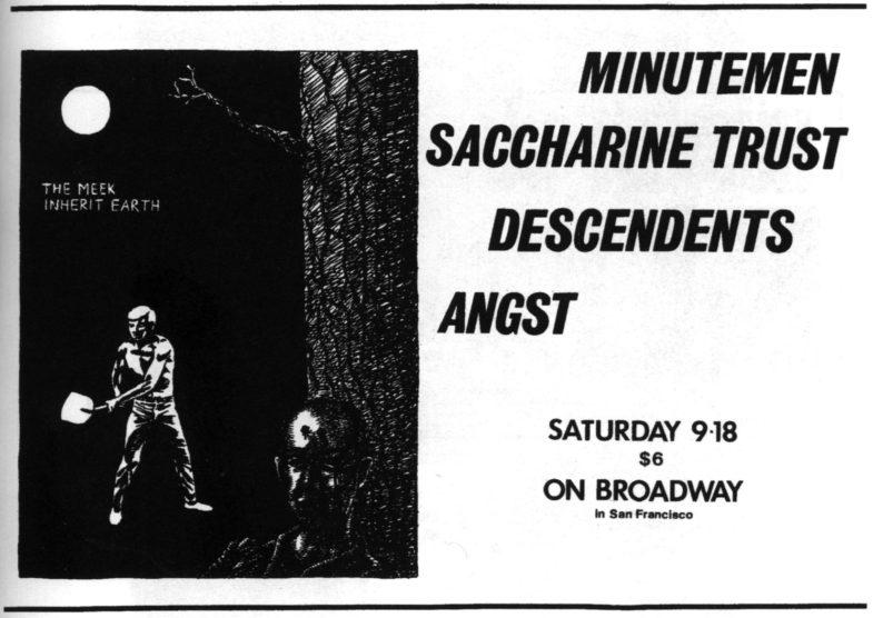 Minutemen-Saccharine Trust-Descendents-Angst @ On Broadway San Francisco CA 9-18-82