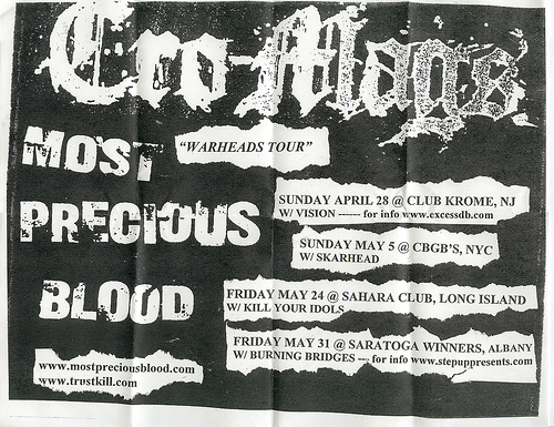 "Cro-Mags ""War-Heads"" Tour 2002"