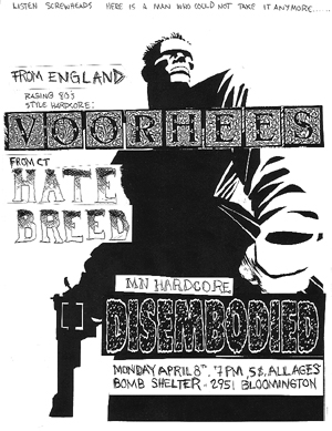Voorhees-Hatebreed-Disembodied @ Bomb Shelter Minneapolis MN 4-8-95