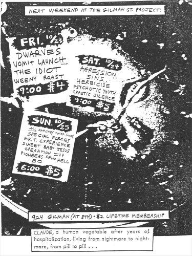 Weekend @ Gilman St. 10-87