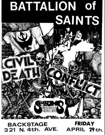 Battalion Of Saints-Civil Death-Conflict @ Backstage Tucson AZ 4-29-83