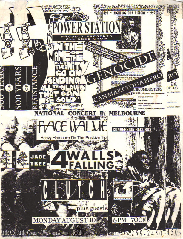 Face Value-Four Walls Falling-Clutch @ Power Station Melbourne FL 8-10-92
