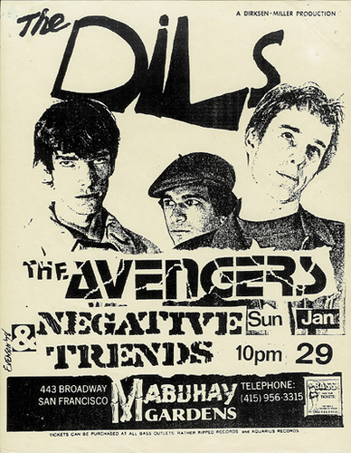 The Dils-Negative Trend-The Avengers @ Mabuhay Gardens San Francisco CA 1-29-78