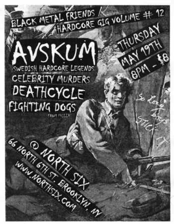 Avskum-Celebrity Murders-Fighting Dogs-Deathcycle @ North Six Brooklyn NY 5-19-05