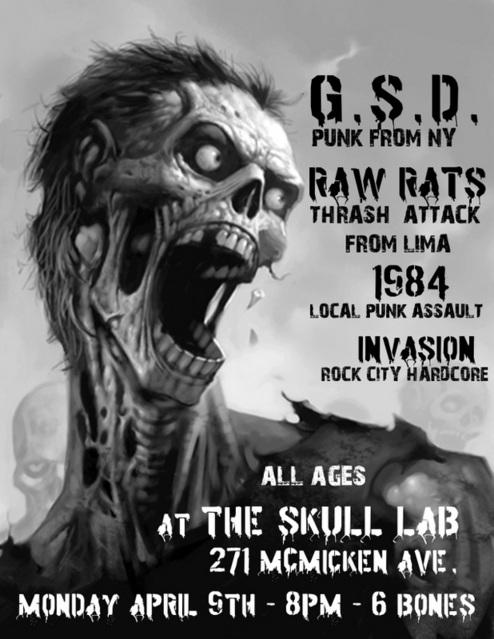 G.S.D.-Raw Rats-1984-Invasion (SP) @ The Skull Lab Cincinnati OH 4-9-07