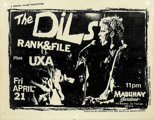 The Dils-UXA-Rank & File @ Mabuhay Gardens San Francisco CA 4-21-78