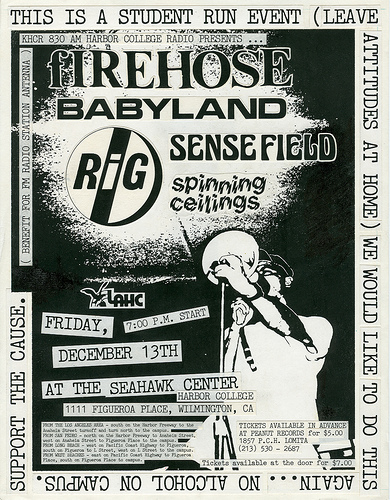 fIREHOSE-Sensefield-Babyland-Spinning Ceiling @ Seahawk Center Wilmington CA 12-13-91