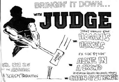 Judge-Alone In A Crowd-Hogan's Heroes-Chain Of Strength @ Anthrax Norwalk CT 11-25-88