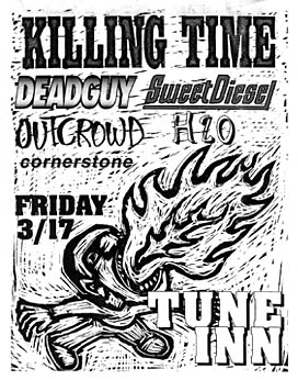 Killing Time-Outcrowd-Sweet Diesel-Deadguy-Cornerstone-h2o @ The Tune Inn New Haven CT 3-17-95