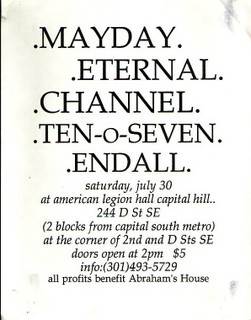 Mayday-Eternal-Channel-Ten O Seven-Endall @ American Legion Hall Washington DC 7-30-94