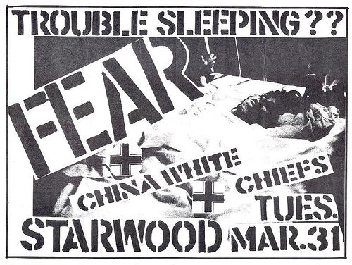Fear-China White-The Chiefs @ Starwood Hollywood CA 3-31-81