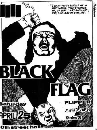 Black Flag-Flipper-Minutemen-The Stains @ 10th Street Hall San Francisco CA 4-25-81