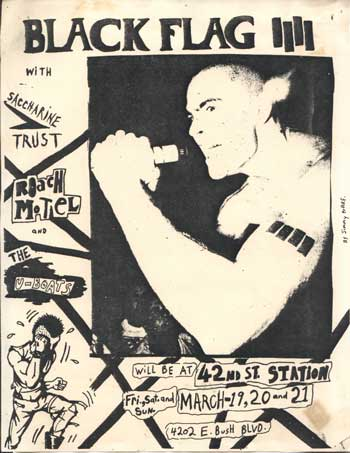 Black Flag-Saccharine Trust-Roach Motel-The U Boats @ 42nd St. Station Tampa FL March 1982