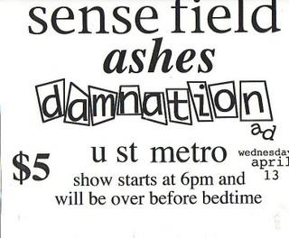 Sensefield-Ashes-Damnation AD @ U St. Metro Washington DC 4-13-94