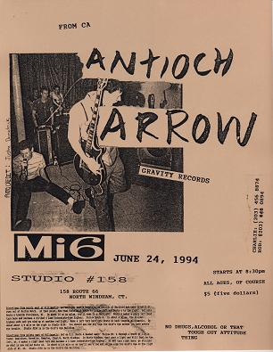 Antioch Arrow-Mi6 @ Studio #158 North Windham CT 6-24-94