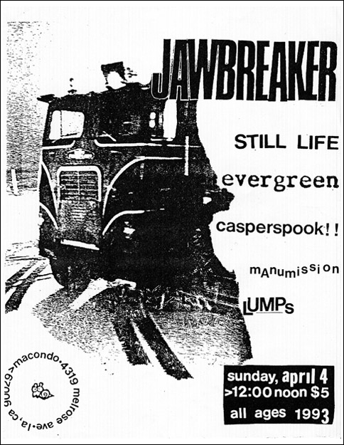 Jawbreaker-Still Life-Evergreen-Casperspook @ Macondo Los Angeles CA 4-4-93