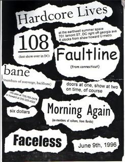 108-Bane-Faultline-Morning Again-Faceless @ Earthwell Summer Space Washington DC 6-9-96