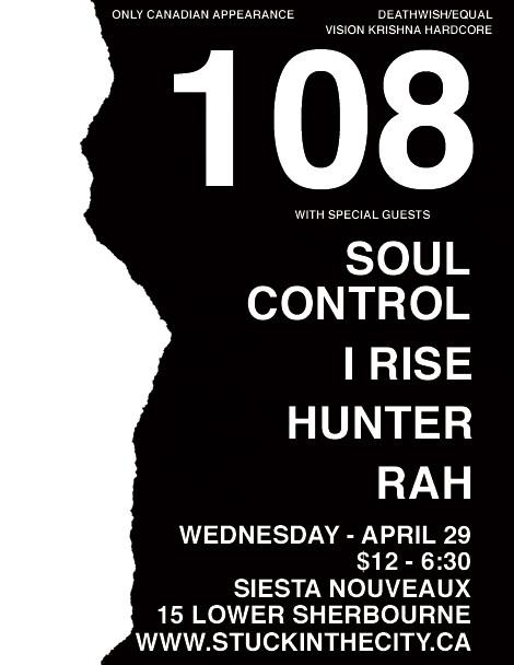 108-Soul Control-I Rise-Hunter-Rah @ Siesta Nouveaux Vancouver Canada 4-29-09