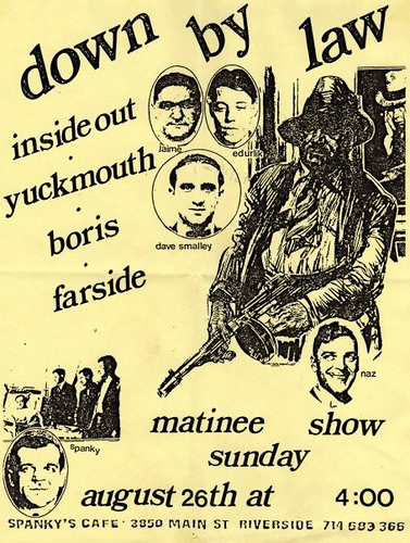 Down By Law-Inside Out-YuckMouth-Boris-Farside @ Spankys Riverside CA 8-26-90