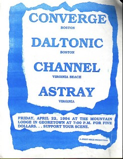Converge-Daltonic-Channel-Astray @ Mountain Lodge Washington DC 4-22-94