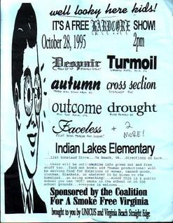 Despair-Turmoil-Autumn-Cross Section-Drought-Outcome-Faceless @ Indian Lakes Elementary Virginia Beach VA 10-28-95