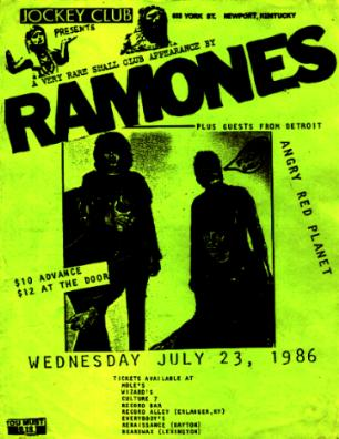 Ramones-Angry Red Planet @ Jockey Club Newport KY 7-23-86