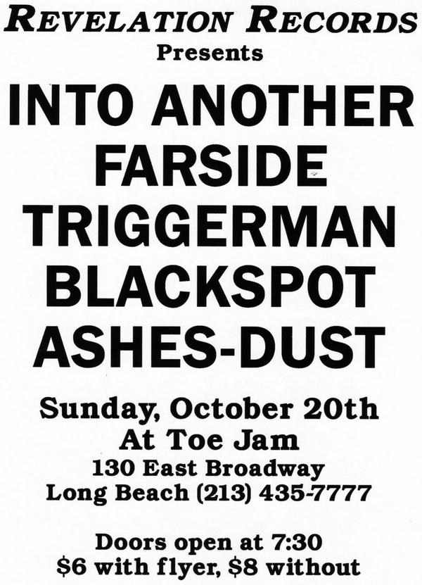Into Another-Farside-Ashes Dust-Blackspot-Triggerman @ Toe Jam Long Beach CA 10-20-91