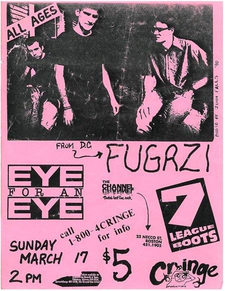 Fugazi-7 League Boots-Eye For An Eye @ The Channel Boston MA 3-17-91