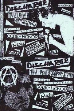 Millions of Dead Cops-Discharge-Social Distortion-Decry-Code of Honor-The Dicks @ Olympic Auditorium Los Angeles CA 12-9-85