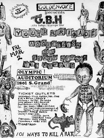 Charged GBH-Youth Brigade-Aggression-DI-Heart Attack-Ill Repute @ Olympic Auditorium Los Angeles CA 3-2-84