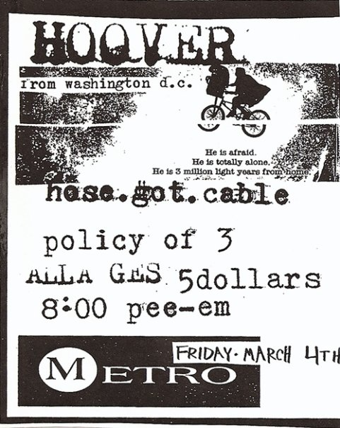 Hoover-Hose Got Cable-Policy of Three @ Metro Richmond VA 3-4-94