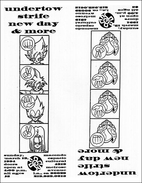 Strife-Undertow-New Day @ Macondo Espacio Cultural Los Angeles CA 3-13-94