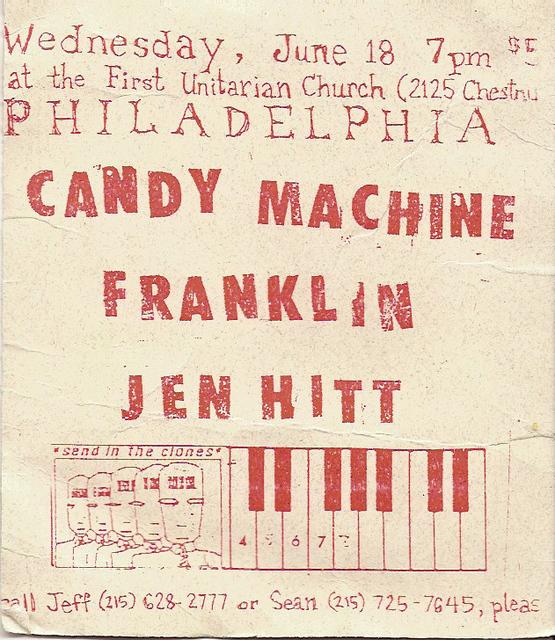 Candy Machine-Franklin-Jen Hitt @ First Unitarian Church Philadelphia PA 6-18-97
