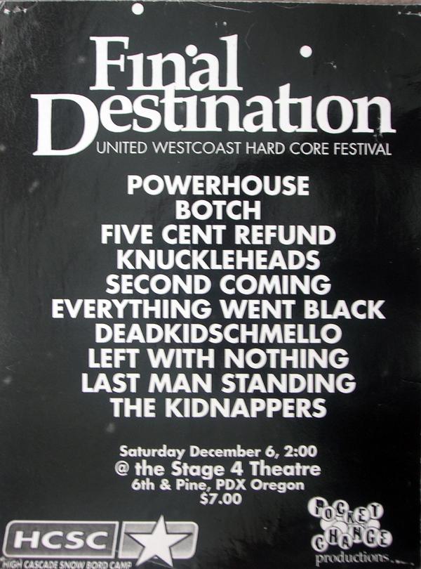 United West Coast Hardcore Fest 12-6-97