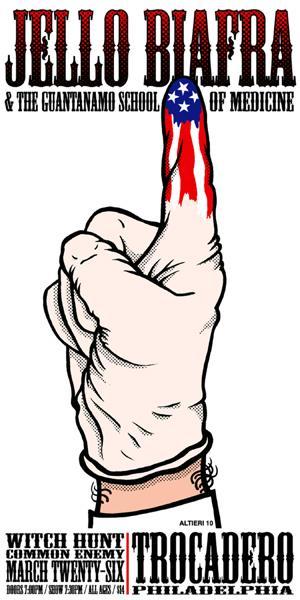 Jello Biafra & The Guantanamo School of Medicine-Witch Hunt-Common Enemy @ Trocadero Philadelphia PA 3-26-10