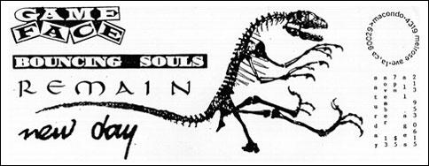 Gameface-Bouncing Souls-Remain-New Day @ Macondo Los Angeles CA 11-13-93