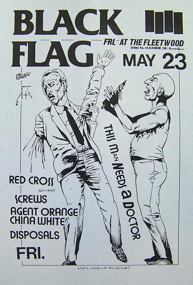 Black Flag-Redd Kross-Screws-Agent Orange-China White-Disposals @ The Fleetwood Redondo Beach CA 5-23-80