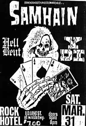 YDI-Samhain-Hellbent @ Rock Hotel New York City NY 3-31-84