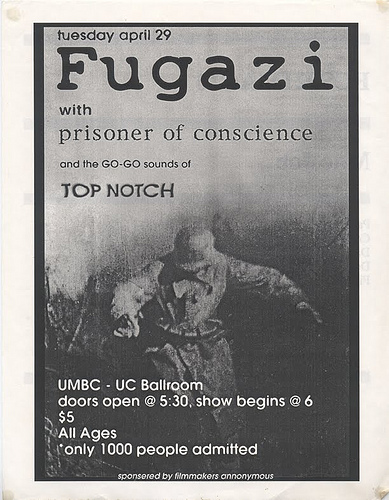 Fugazi-Prisoner of Conscience-Top Notch @ UMBC-UC Ballroom Baltimore MD 4-29-97