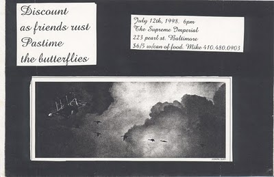 Discount-As Friends Rust-Pastime-The Butterflies @ The Suspense Imperial Baltimore MD 7-12-98