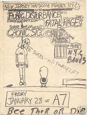 Public Disturbance-Fatal Rage-Child Abuse-Chronic Sick @ A7 New York City NY 1-28-83