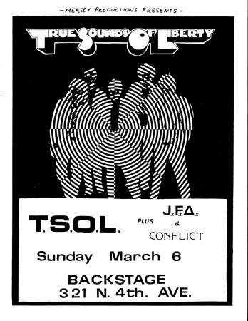 TSOL-JFA-Conflict (USA) @ Backstage Tucson AZ 3-6-83