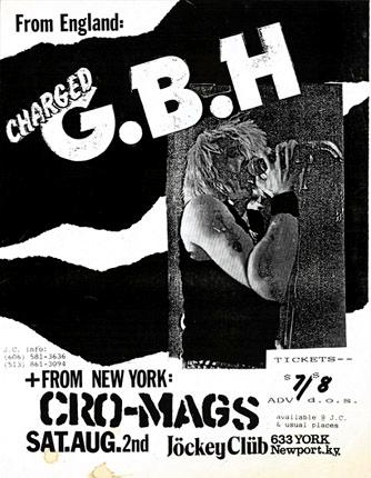 GBH-Cro Mags @ Jockey Club Newport KY 8-2-86