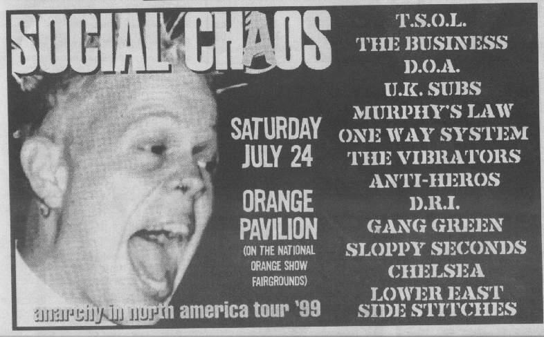 Social Chaos Tour 1999