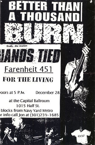 Better Than A Thousand-Burn-Hands Tied-Fahrenheit 451-For The Living @ Capital Ballroom Washington DC 12-28-97
